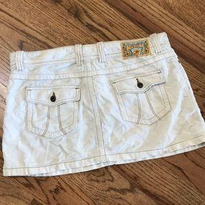 ROXY Heart of Surfing Buttons Corduroy Mini Skirt